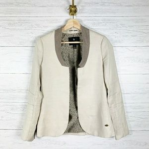 Maison Scotch Collarless Blazer